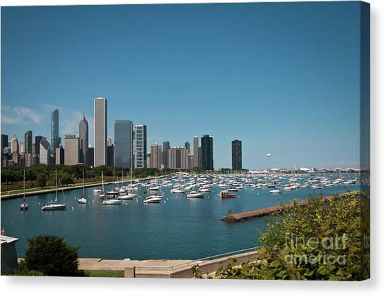 Harbor Parking In Chicago Canvas Print