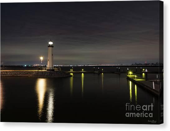 Harbor Rockwall Lighthouse Canvas Print