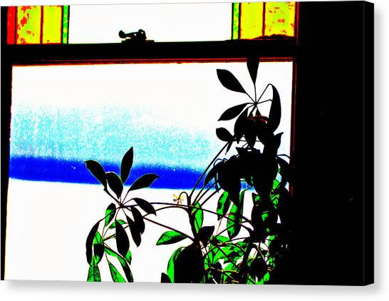 Harbor Side Window Canvas Print