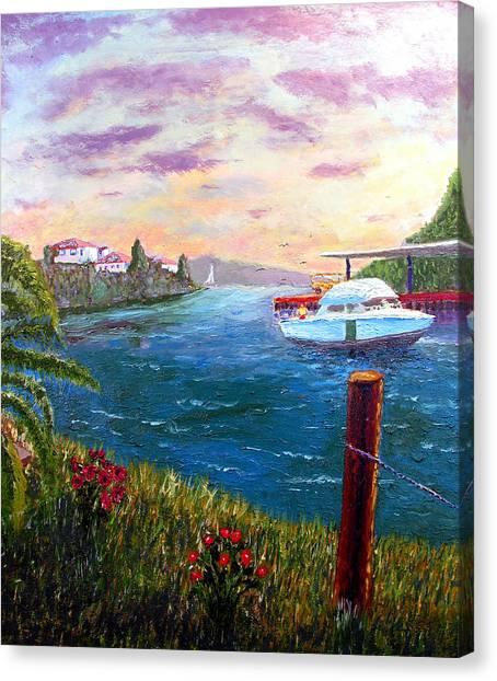 Harbor Canvas Print by Stan Hamilton