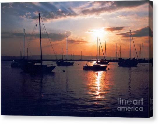 Harbor Sunrise Canvas Print