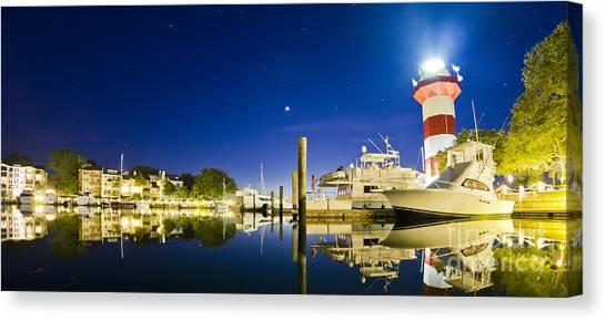 Harbor Town Yacht Basin Light House Hilton Head South Carolina Canvas Print