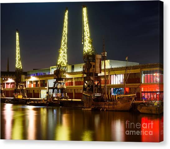 Harbour Cranes Canvas Print