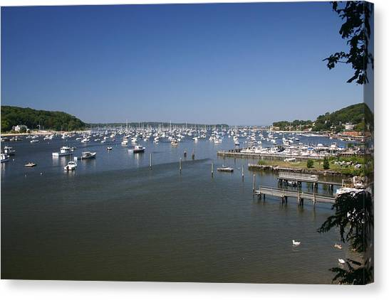Harbour Canvas Print by Dennis Curry