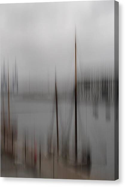 Harbour In The Fog Canvas Print