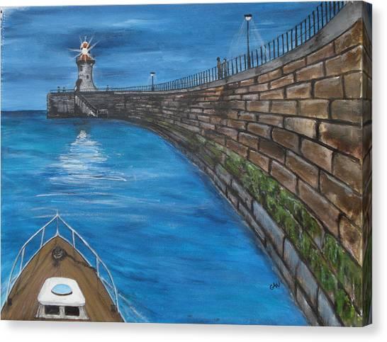 Harbour Light Canvas Print by Carol Williams