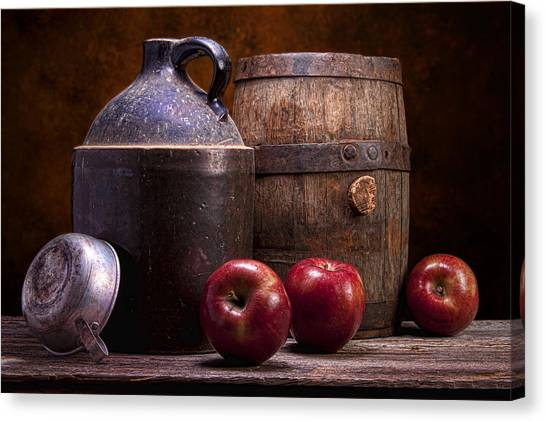 Whiskey Canvas Print - Hard Cider Still Life by Tom Mc Nemar