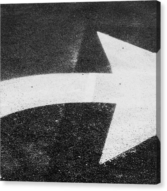 Turn Signals Canvas Print - Hard Right by Bill Tomsa