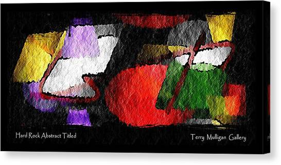Hard Rock Abstract Titled Canvas Print by Terry Mulligan