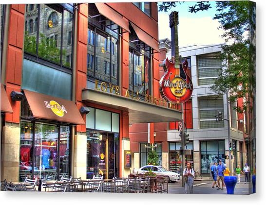 Hard Rock Cafe Denver Canvas Print by Laurie Prentice