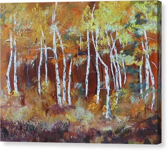Harding Way  Aspens Dancing Canvas Print