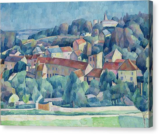 Post-impressionism Canvas Print - Hardricourt Village And Castle by Walter Rosam