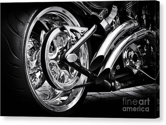 Choppers Canvas Print - Hardtail by Tim Gainey