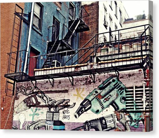 Graffiti Walls Canvas Print - Hardware Graffiti by Sarah Loft