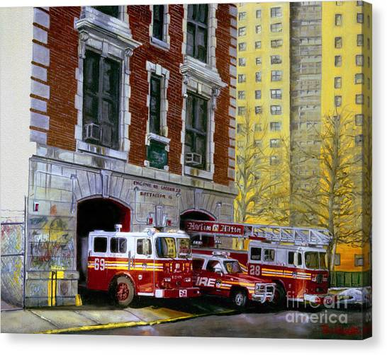 Nyfd Canvas Print - Harlem Hilton by Paul Walsh