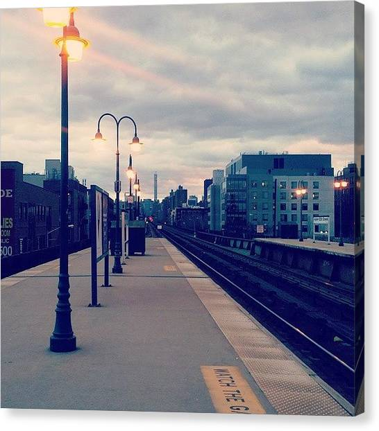 Ivory Canvas Print - #harlem #nyc #beautiful #goodevening by Ivory Scinto
