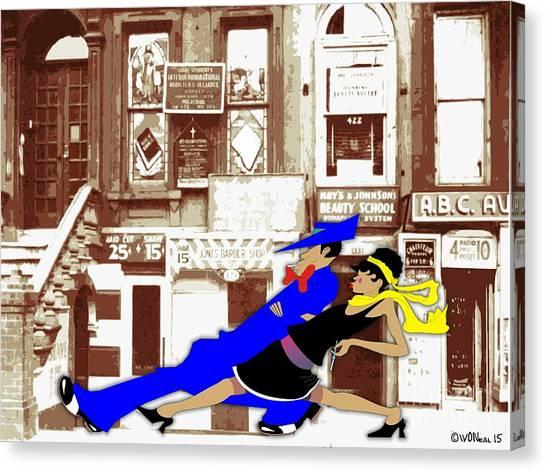 Harlem Strut Canvas Print by Walter Neal