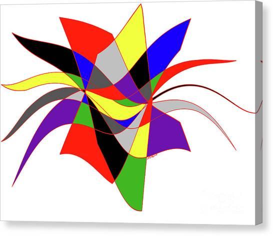 Harlequin Flower Canvas Print