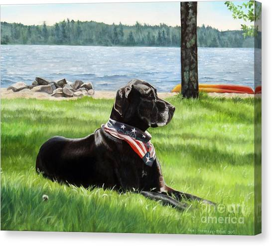 Harley At The Beach Canvas Print