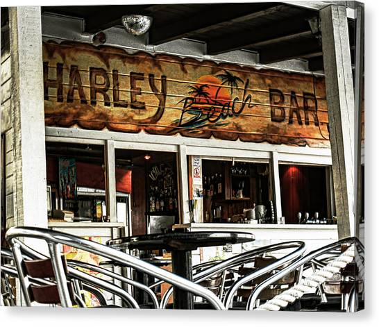 Harley Beach Bar Canvas Print