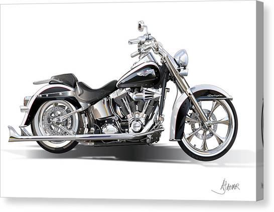 Harley Bike Canvas Print