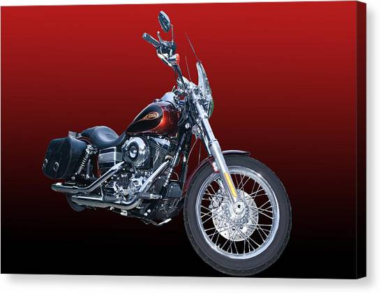 Harley Bike Canvas Print