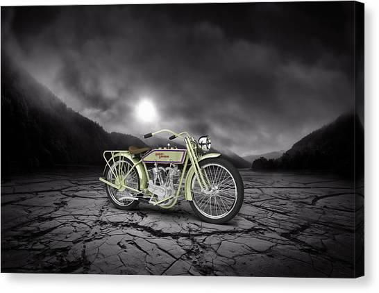 Mountian Canvas Print - Harley Davidson 11j 1915 Mountains by Aged Pixel