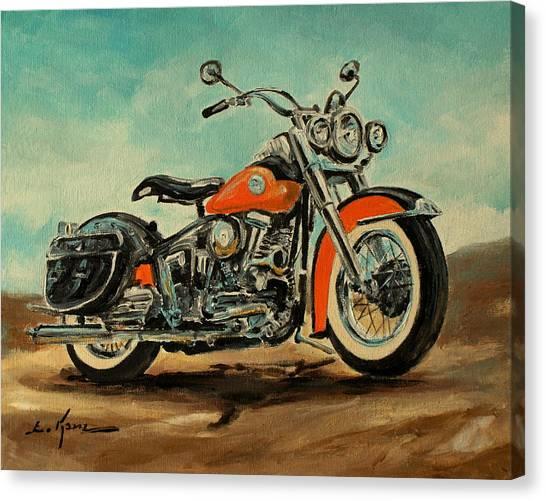 Harley Davidson 1956 Flh Canvas Print