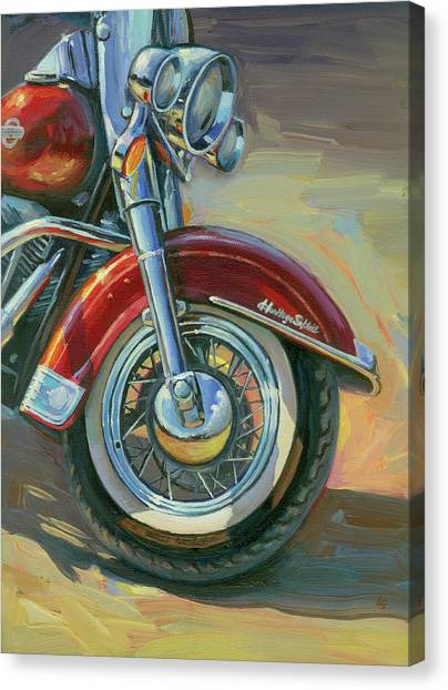 Harley-davidson Heritage Softail Canvas Print