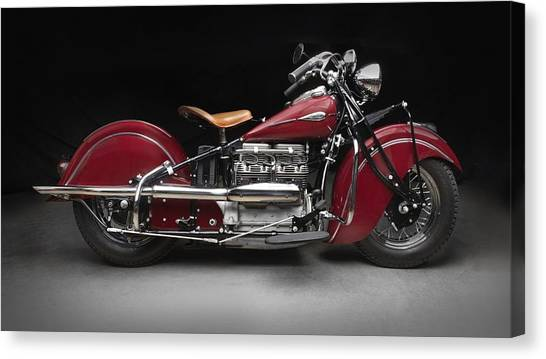 Harley Davidson Canvas Print - Harley Davidson Indian 441 by Mariel Mcmeeking