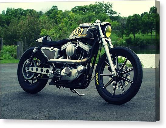 Harley Davidson Canvas Print - Harley Davidson Iron 883 by Jackie Russo