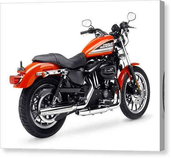 Harley Davidson Canvas Print - Harley-davidson by Jackie Russo