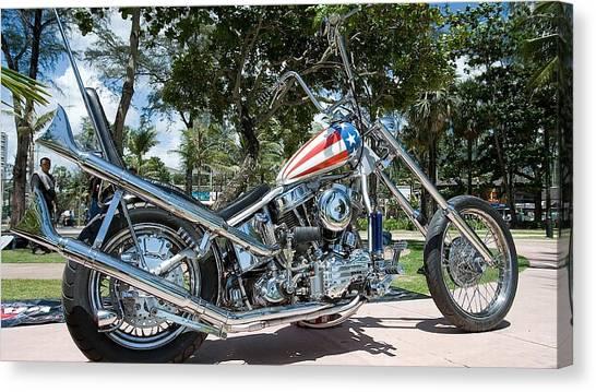 Harley Davidson Canvas Print - Harley-davidson by Maye Loeser