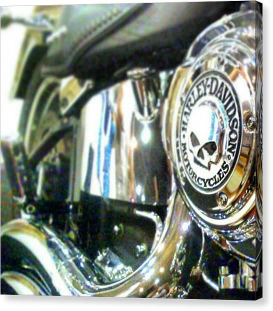 Harley Davidson Canvas Print - #harley #davidson by Rafael Donis