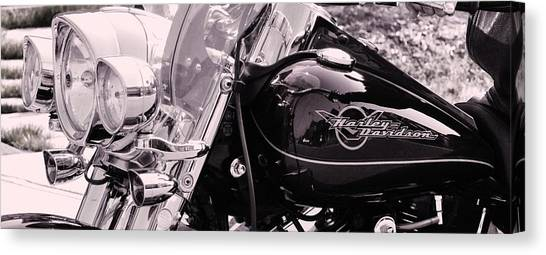 Harley Davidson Road King  Motorcycle Canvas Print by Lisa  DiFruscio