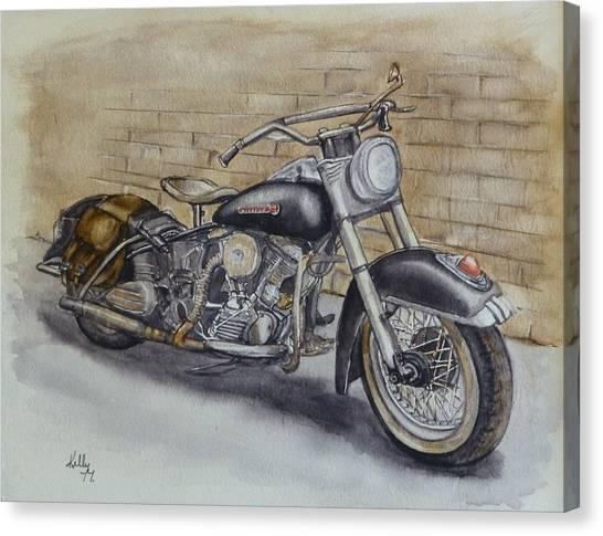 Harley Davidson Vintage 1950's Canvas Print