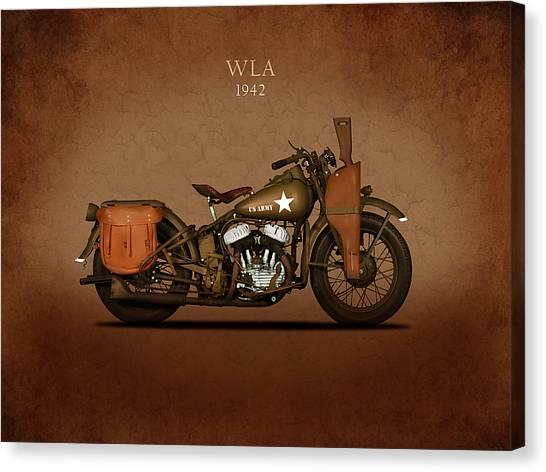 Hogs Canvas Print - Harley Davidson Wla by Mark Rogan