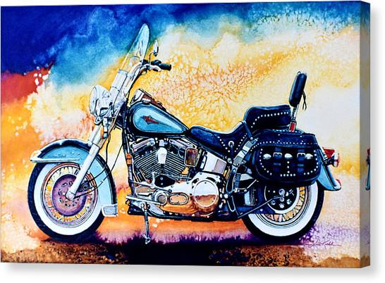 Hogs Canvas Print - Harley Hog I by Hanne Lore Koehler