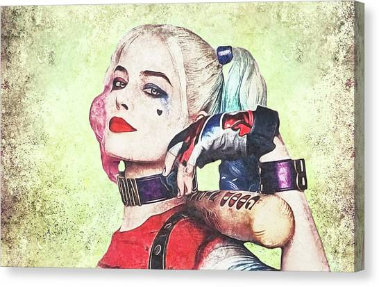 Harley Is A Crazy Woman Canvas Print