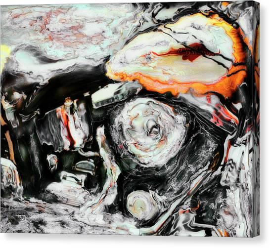 Harley Canvas Print by Paul Tokarski