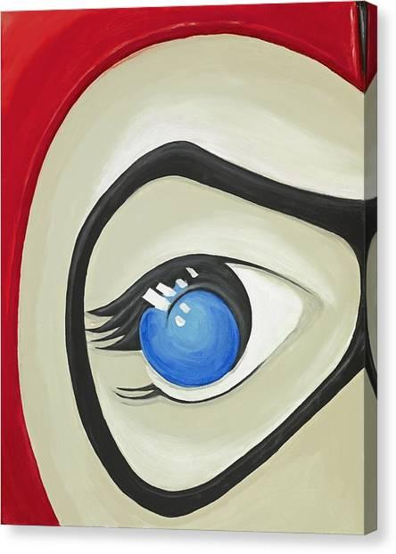 Harley Quinn Eye Canvas Print