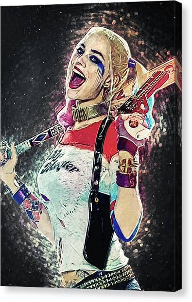 Harley Davidson Canvas Print - Harley Quinn by Zapista