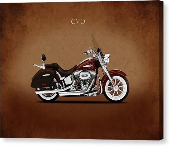 Hogs Canvas Print - Harley Softail Deluxe by Mark Rogan