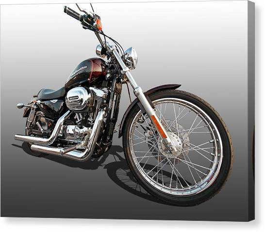 Harley Sportster Xl1200 Custom Canvas Print
