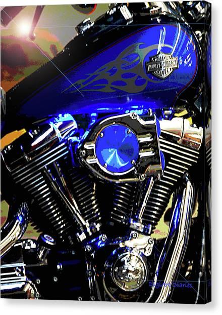 Harleys Twins Canvas Print