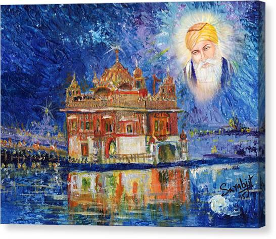 Sikh Art Canvas Print - Harmandir Sahib by Sarabjit Singh