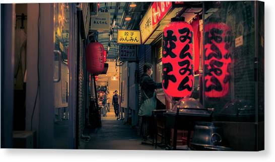 Bladerunner Canvas Print - Harmonica Alley by Guillaume Marcotte