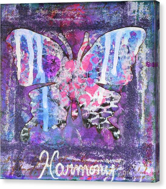 Harmony Butterfly Canvas Print