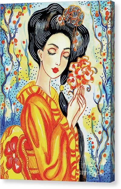 Harmony Flower Canvas Print