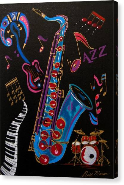 Harmony In Jazz Canvas Print
